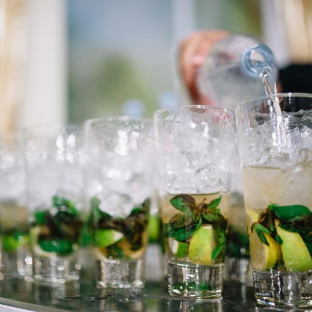 """Glasses of mojito drink"" stock image"