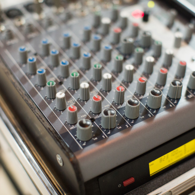 """""""Professional audio mixing console"""" stock image"""