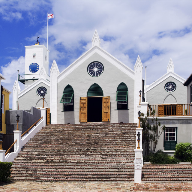 """Saint Peters Church, Anglican, St George Parish, Bermuda"" stock image"