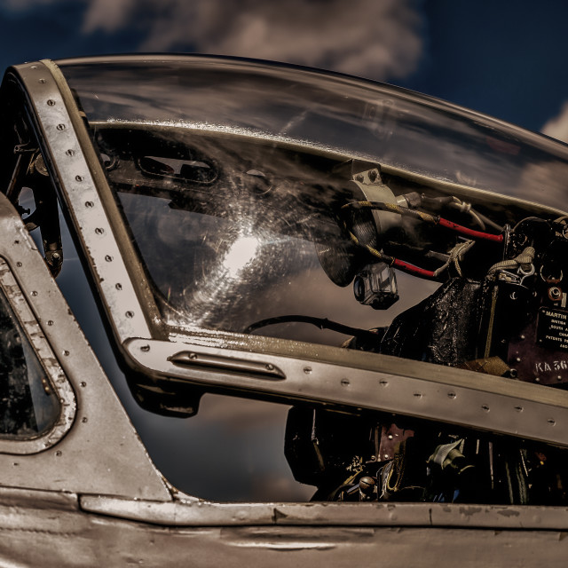 """Vampire Cockpit - Colour"" stock image"