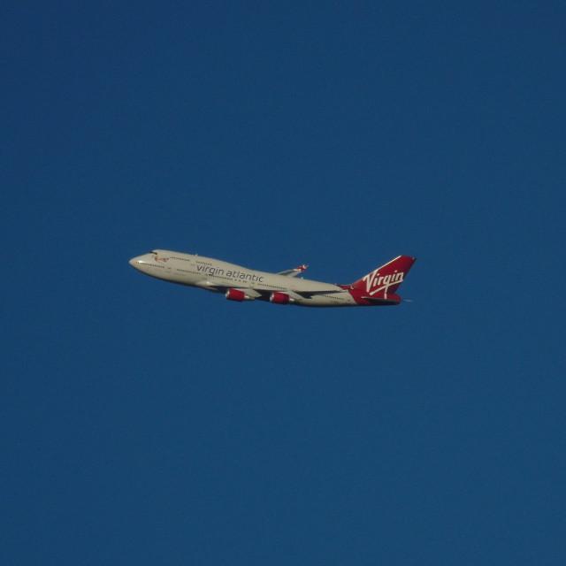 """Virgin Atlantic 747"" stock image"