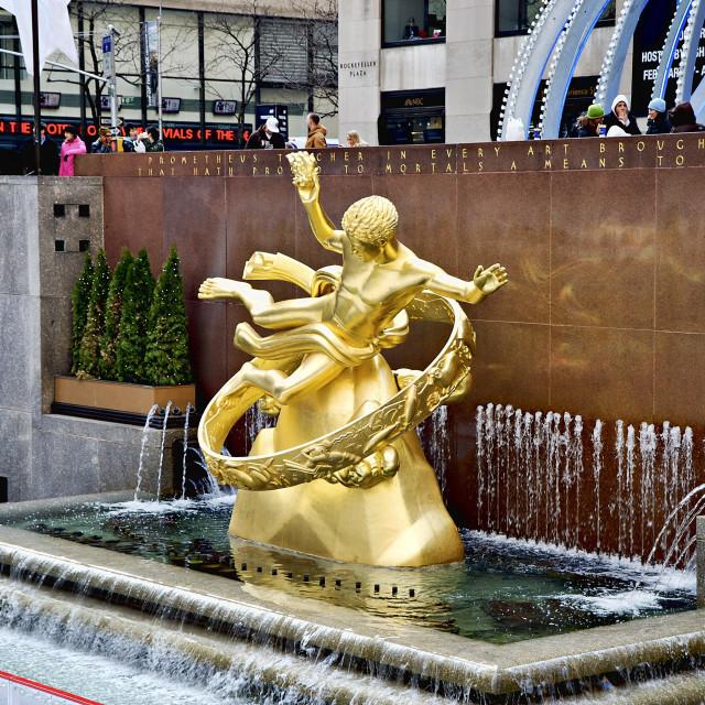 """Rockefeller Center, NYC, New York"" stock image"
