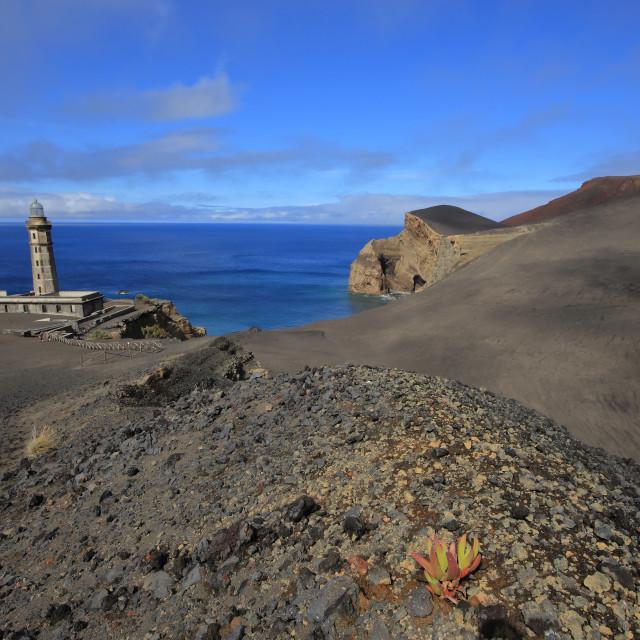 """Capelinho Lighthouse"" stock image"