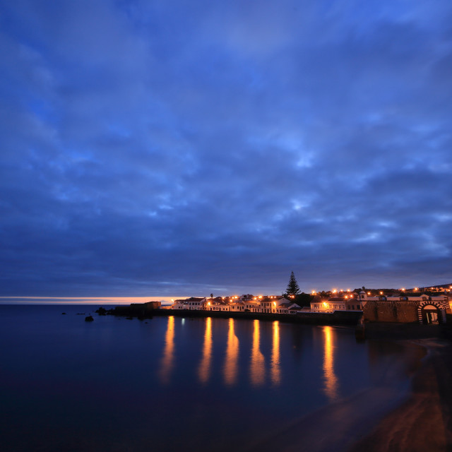 """Porto Pim at dusk"" stock image"