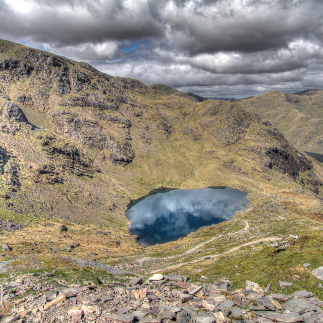 """The Old Man of Coniston"" stock image"