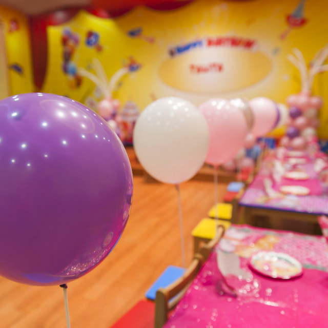 """Colourful birthday decorations"" stock image"