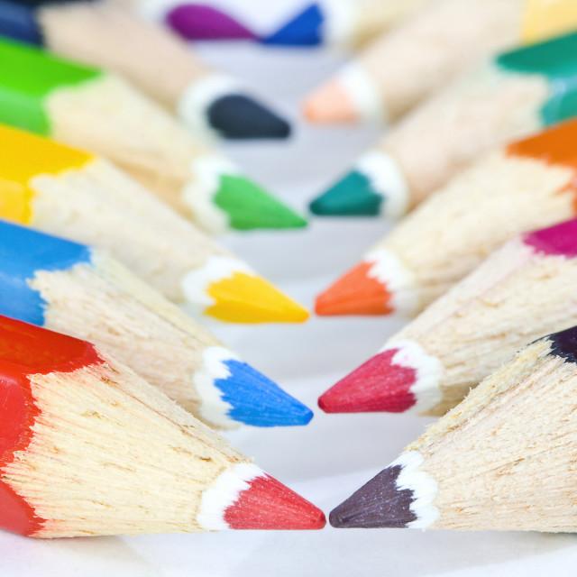 """Bright drawing pencils"" stock image"