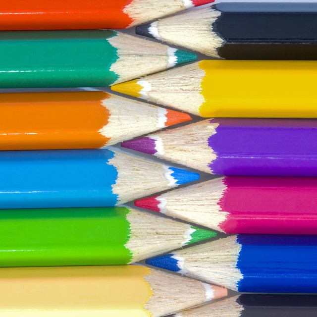 """Bright drawing pencils"" stock image"