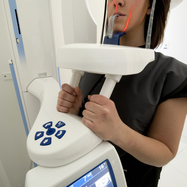 """Computerized dental imaging technology."" stock image"