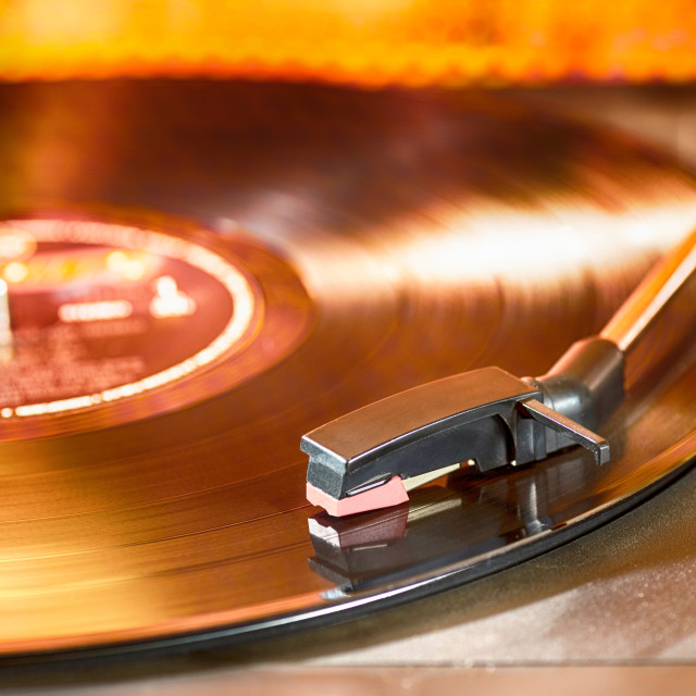 """""""Vintage record player"""" stock image"""