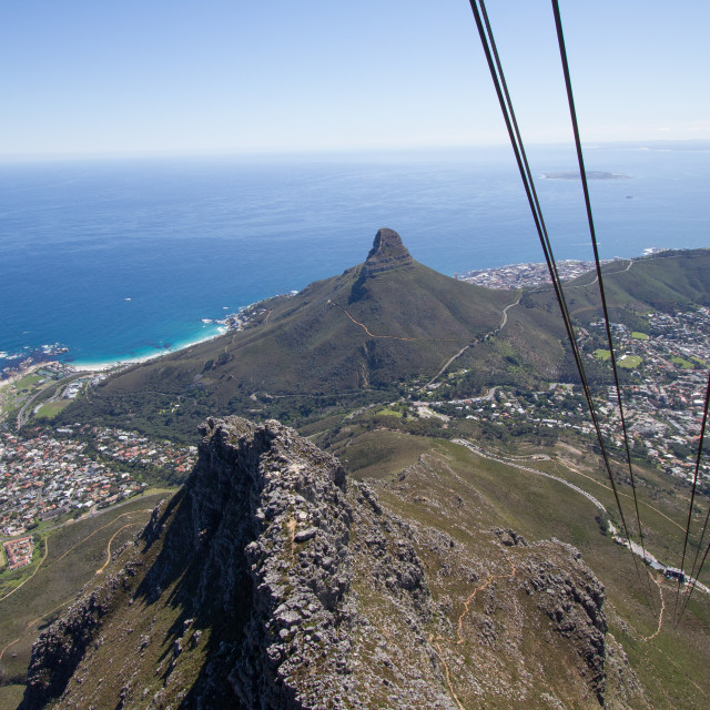 """Table Mountain, Cape Town"" stock image"