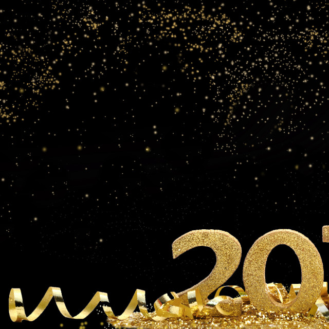 """""""golden and magical new year"""" stock image"""