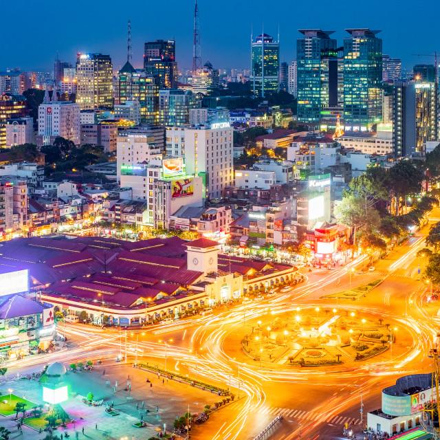 """""""Ben Thanh market"""" stock image"""