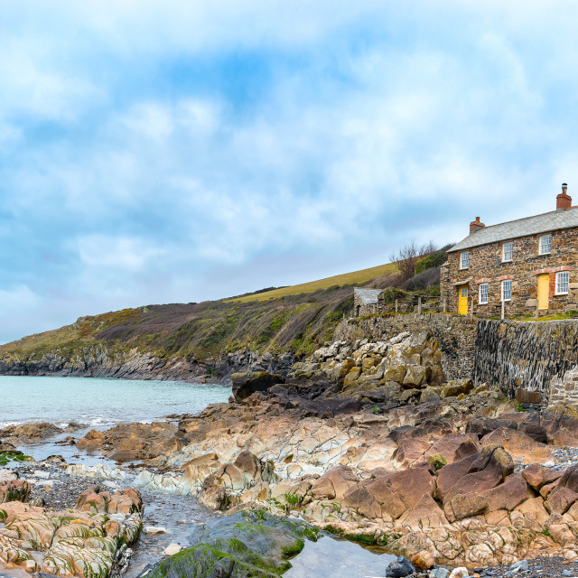 """Port Quin, Cornwall"" stock image"