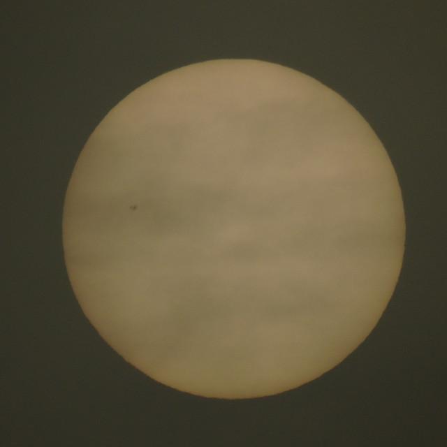 """The Sun Visible Through The Fog"" stock image"