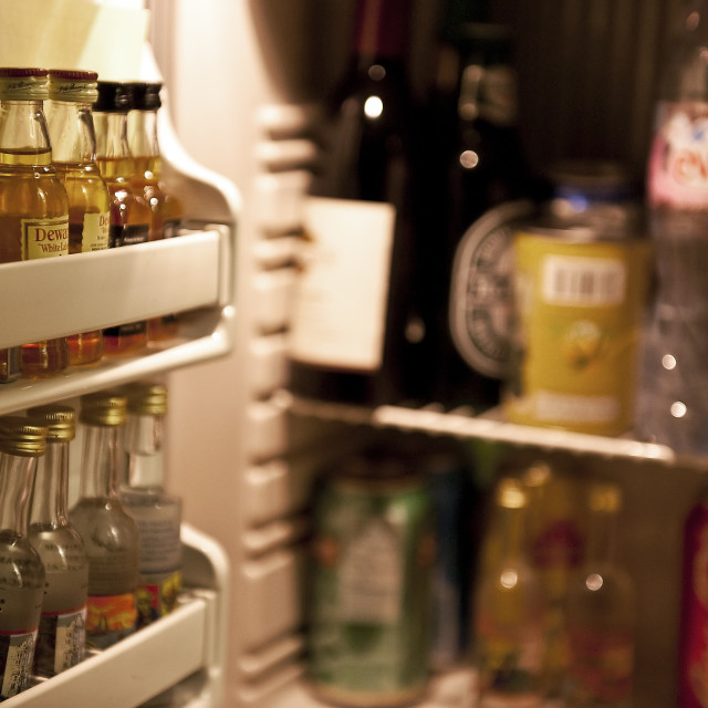"""Hotel mini-bar"" stock image"