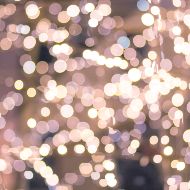 """""""Bokeh background. Soft Blurred light in warm tone lights"""" stock image"""
