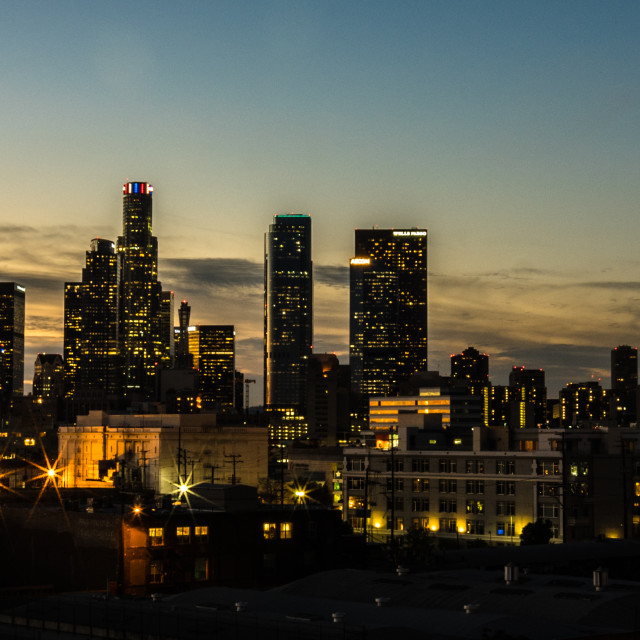 """Downtown LA"" stock image"