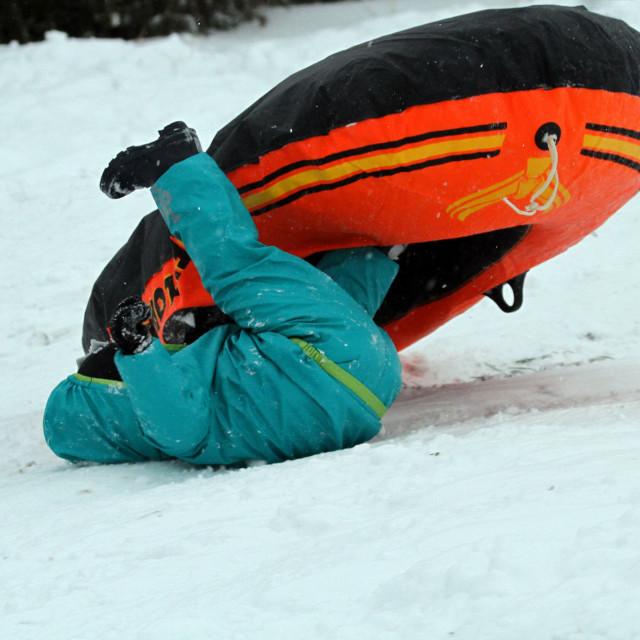 """""""Fun in the Snow"""" stock image"""