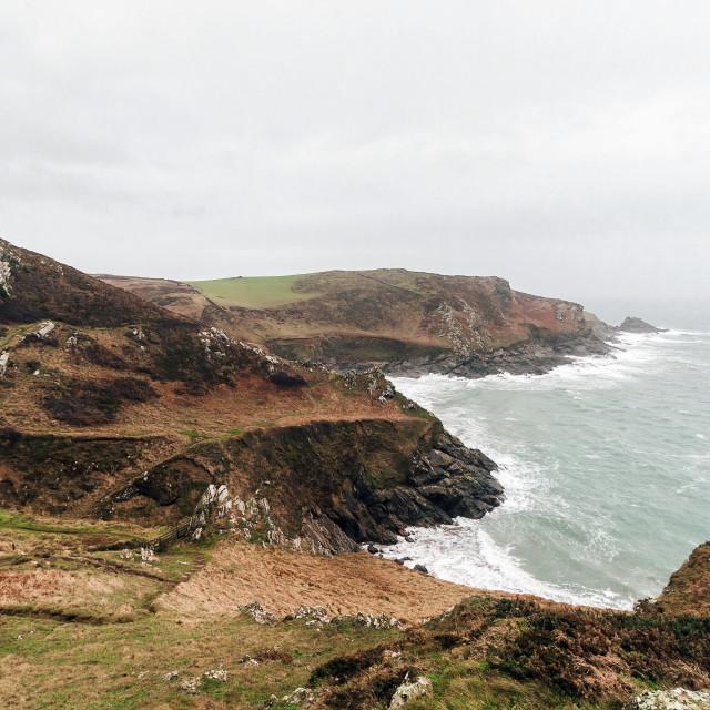 """""""Devon cliffs"""" stock image"""