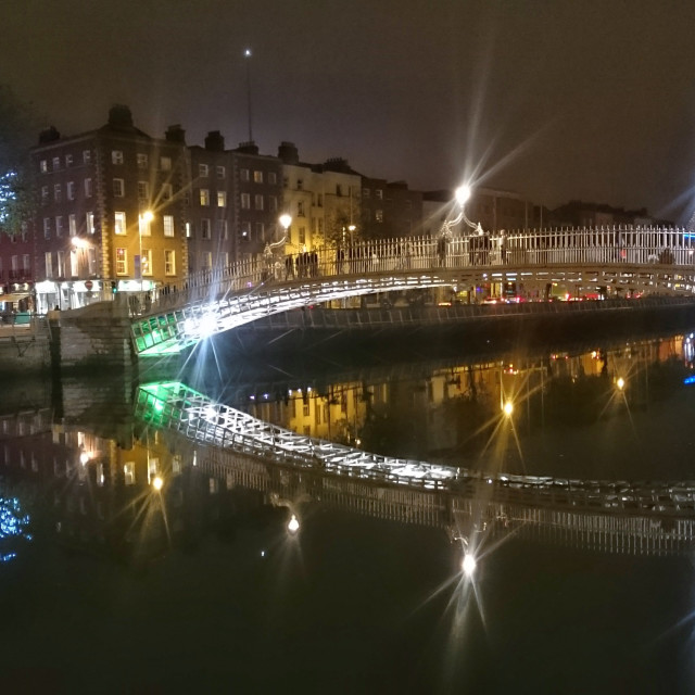 """Halfpenny Bridge Dublin"" stock image"