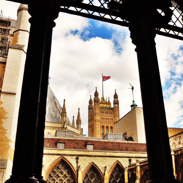 """Westminster Abbey Cloisters"" stock image"