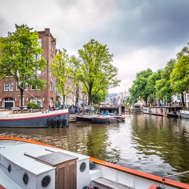 """""""Canals in Amsterdam"""" stock image"""