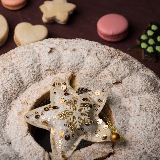 """""""Christmas cake an cookies"""" stock image"""