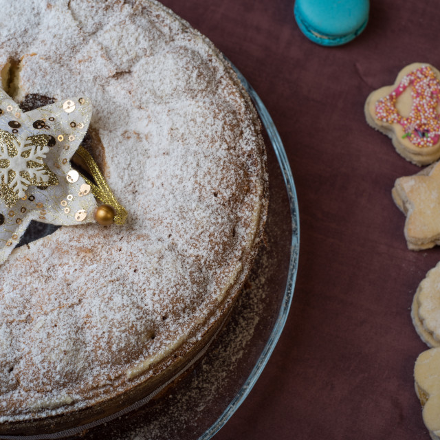 """Christmas cake with cookies"" stock image"