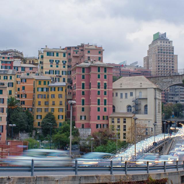 """""""Rush Hour Genoa"""" stock image"""