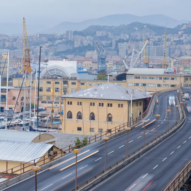 """Industrial Genoa"" stock image"
