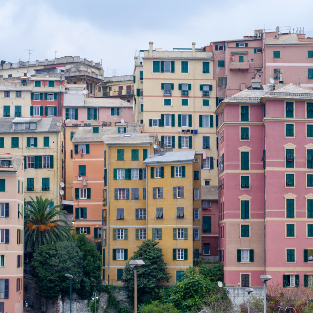 """""""Color And Architecture Of Genoa"""" stock image"""