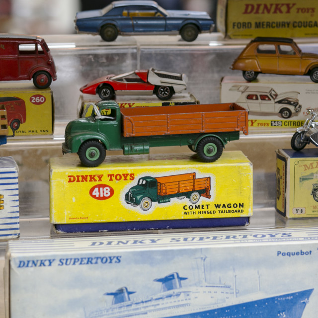 """Old Dinky and Matchbox Toys"" stock image"
