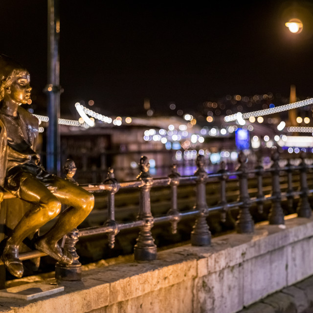 """""""The little Prince in Budapest"""" stock image"""
