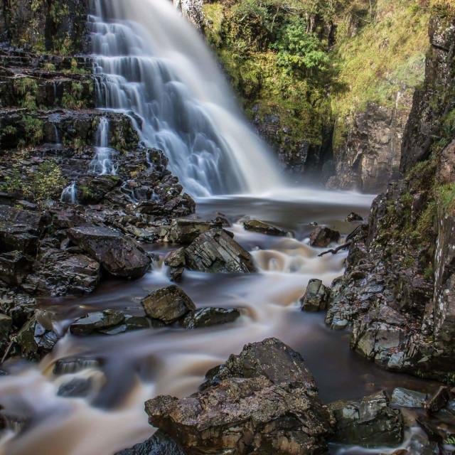 """Wales Waterfall...."" stock image"