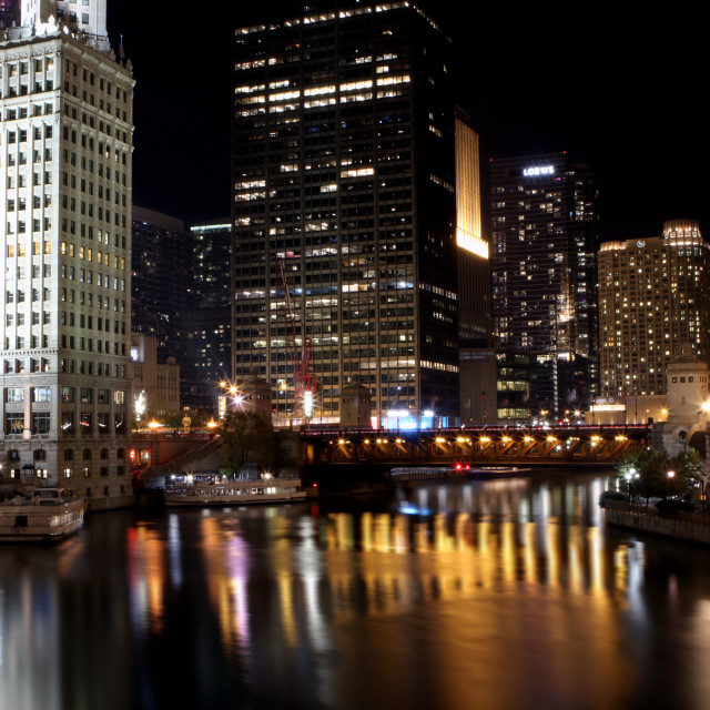 """DuSable Bridge, Chicago"" stock image"