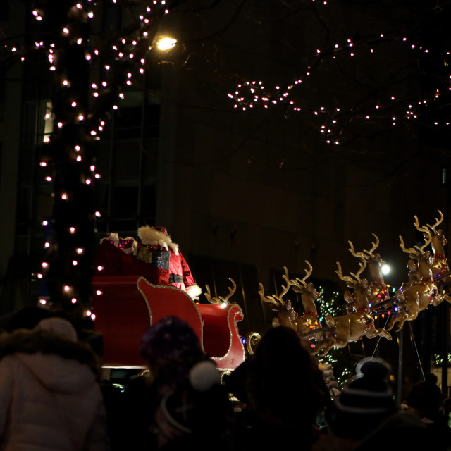 """Santa Claus at Light Parade, Chicago"" stock image"