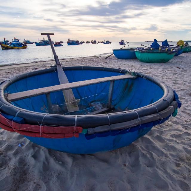 """Basket boat"" stock image"