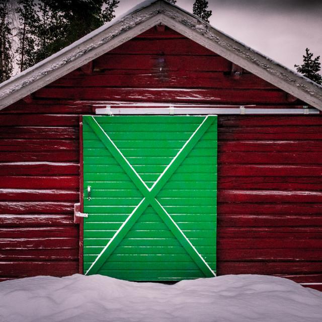 """""""the green door"""" stock image"""
