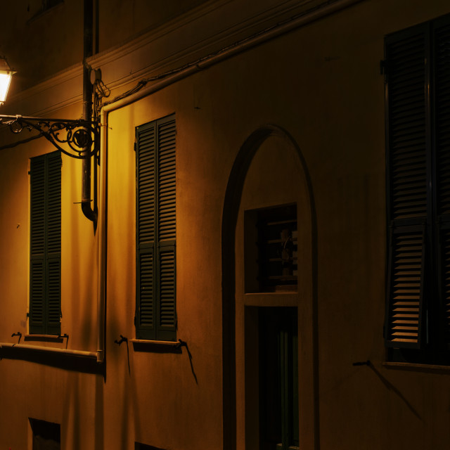"""""""Once In A Calm Night In Genoa"""" stock image"""