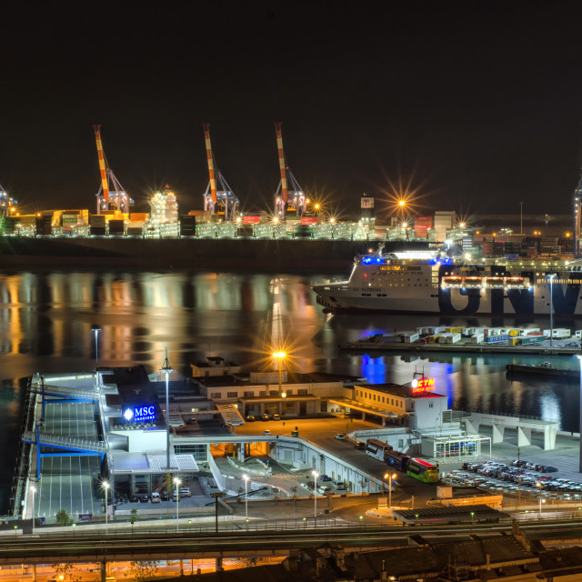 """Cargo Industry Of Genoa"" stock image"