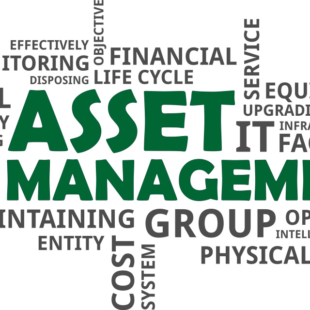 """word cloud - asset management"" stock image"