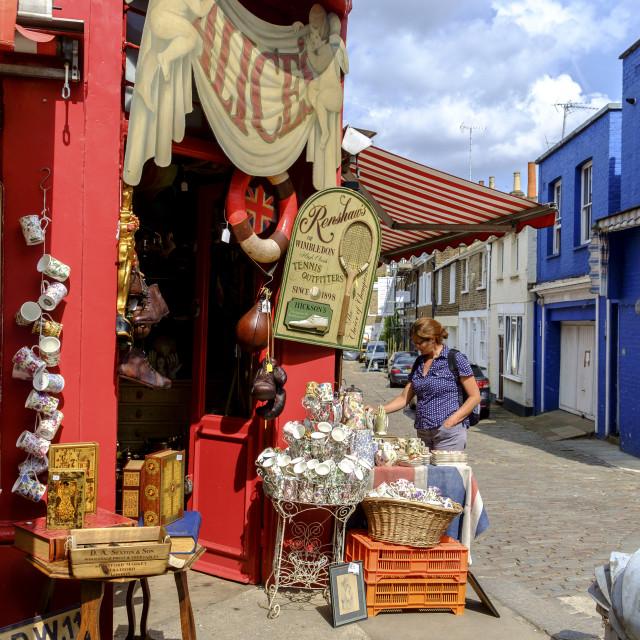 """Vintage market in Notting Hill"" stock image"