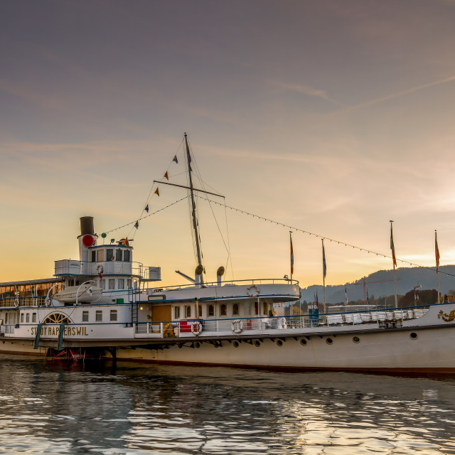 """Zurich steam-boat"" stock image"
