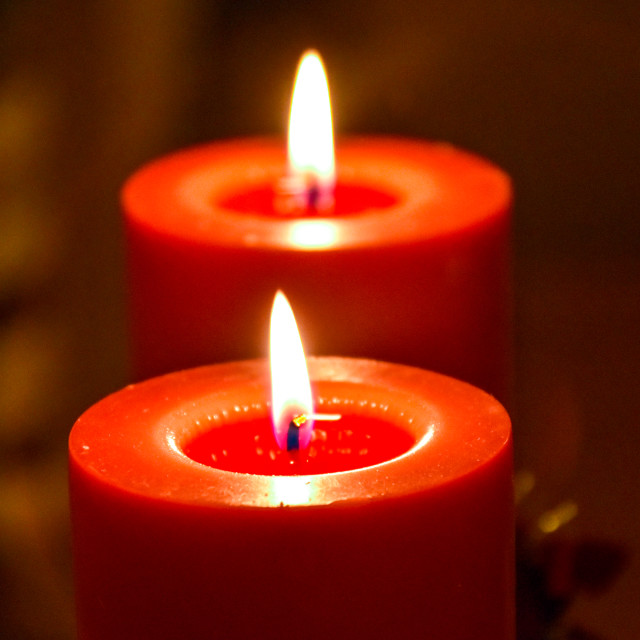 """Red Candles"" stock image"