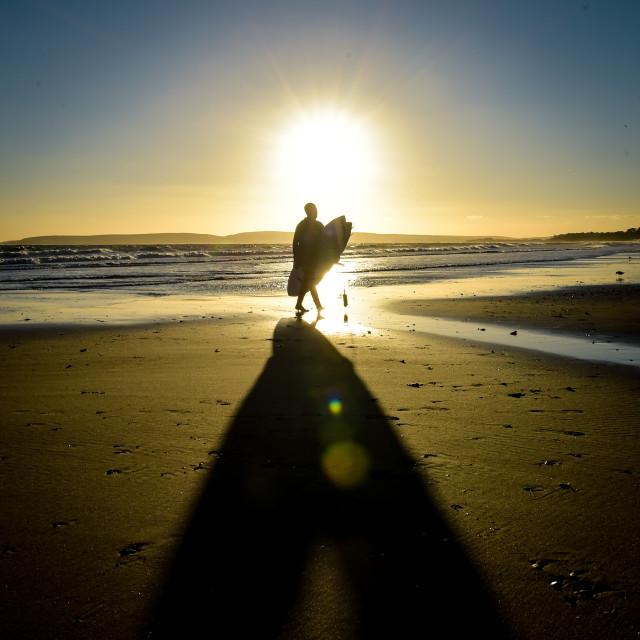 """Sunset Surfer"" stock image"