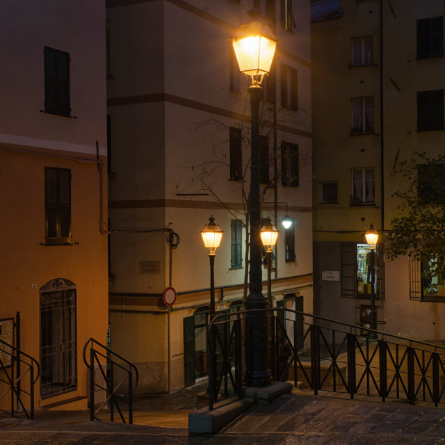 """""""Magical Evening In Genoa"""" stock image"""