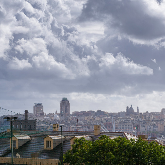 """""""Clouds Over Genoa"""" stock image"""