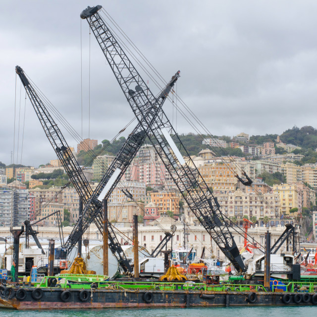 """""""The Industrial Side Of Genoa"""" stock image"""