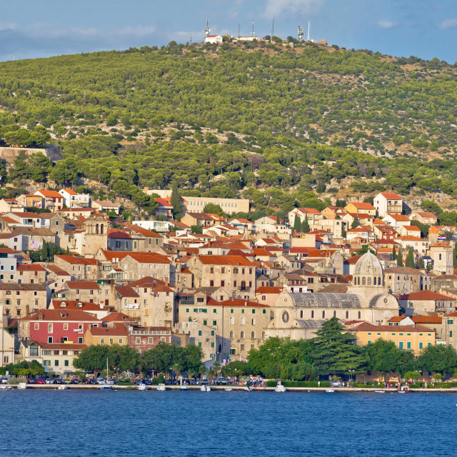 """Historic town of Sibenik waterfront"" stock image"